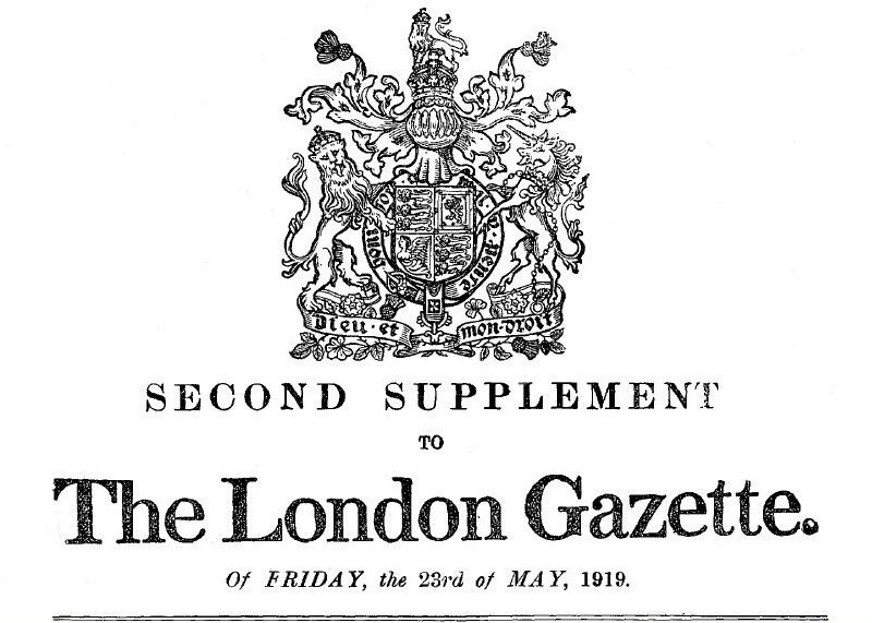Image result for london gazette may 28, 1937