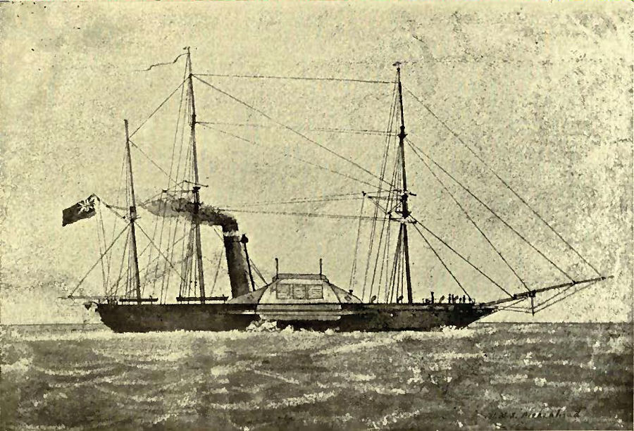 Per Wikipedia, the only known picture of the Birkenhead as she existed. See text above.