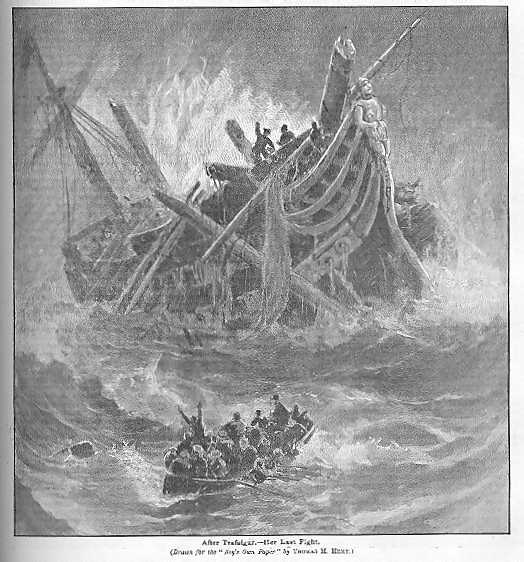 After Trafalgar - Her Last Fight by  Thomas M. Hemy