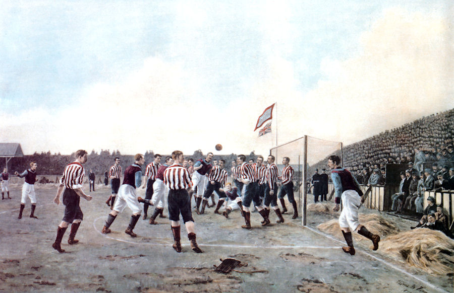 The Hemy work, Sunderland v Aston Villa (1895), shown here thanks to Paul Days.