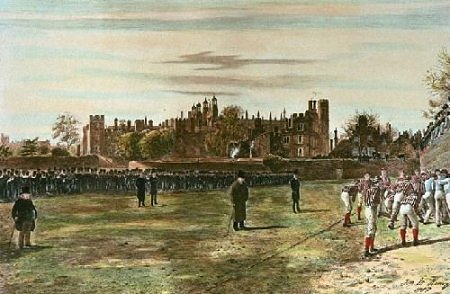Eton Wall Game by Thomas M. M. Hemy 1887