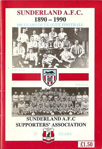 'Sunderland A.F.C. 1890-1990, a booklet of 70 pages, published in 1990 to raise funds to restore Thomas Hemy's famous painting.