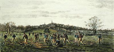 A soccer game at Harrow public school