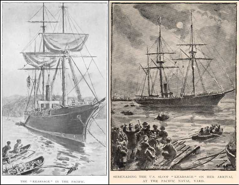 Two Kearsage Drawings by Thomas M. M. Hemy