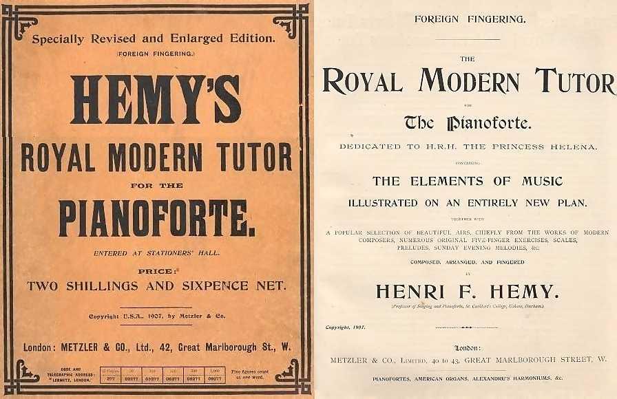 Henri F. Hemy Pianoforte 1907