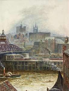 View of Newcastle from Gateshead, 1881, by Thomas M. M. Hemy