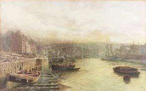 River Wear Looking West from Customs House by Thomas M. M. Hemy, Date Unknown