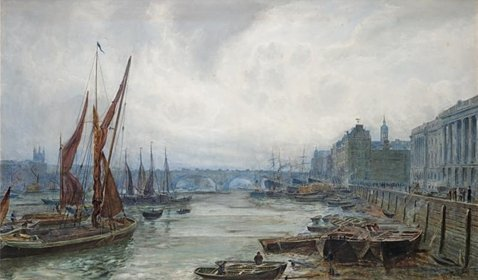 Shipping on the Thames, an 1883 work by 