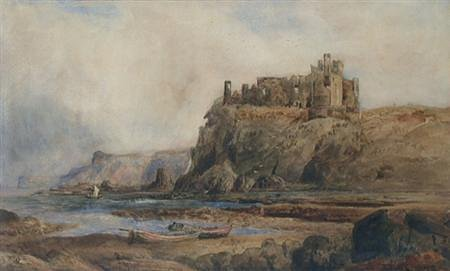 Tantallon Castle, by Thomas M. M. Hemy, date unknown.
