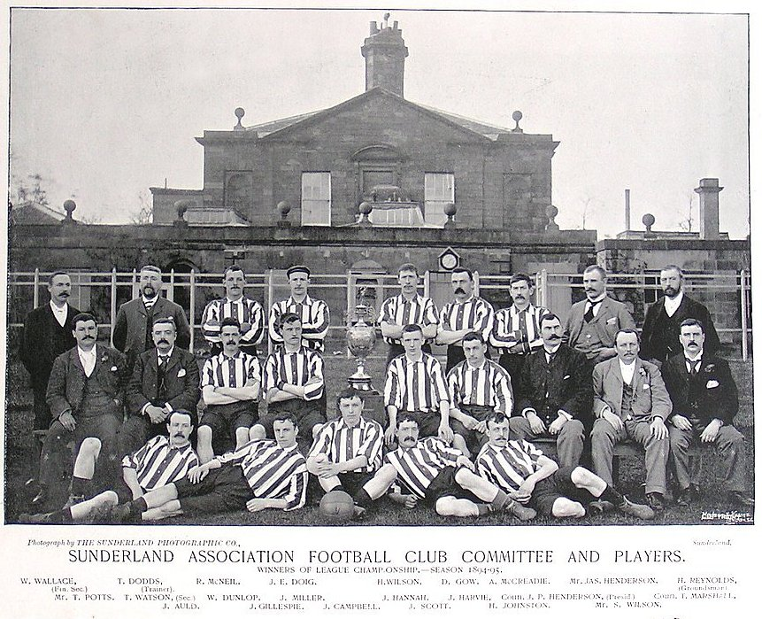 The Sunderland team, the 1894-95 League Champions, as published c. 1896 in 'Famous Footballers and Athletes'