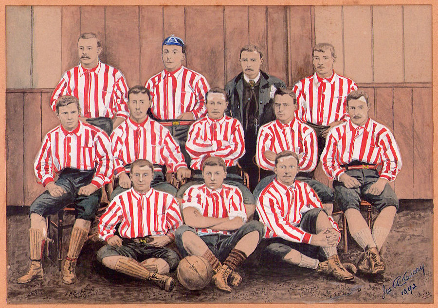 An 1892 painting of the 'Team of All the Talents', by Jos. Curry.