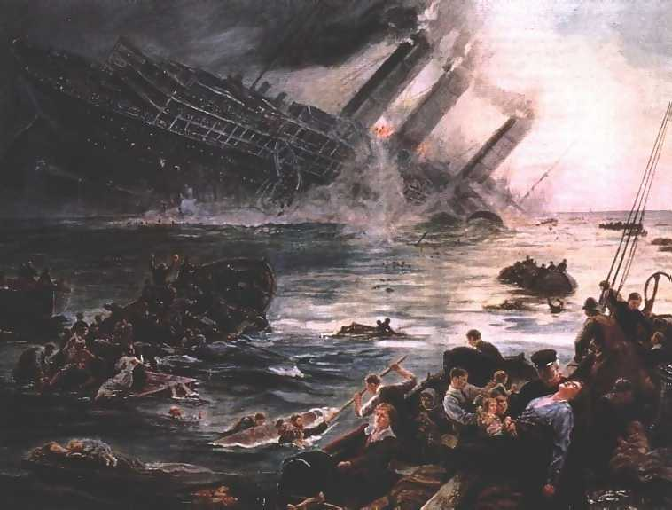 Lusitania by Thomas M. M. Hemy