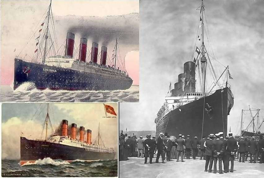 3 Lusitania iamges from 1910/1913