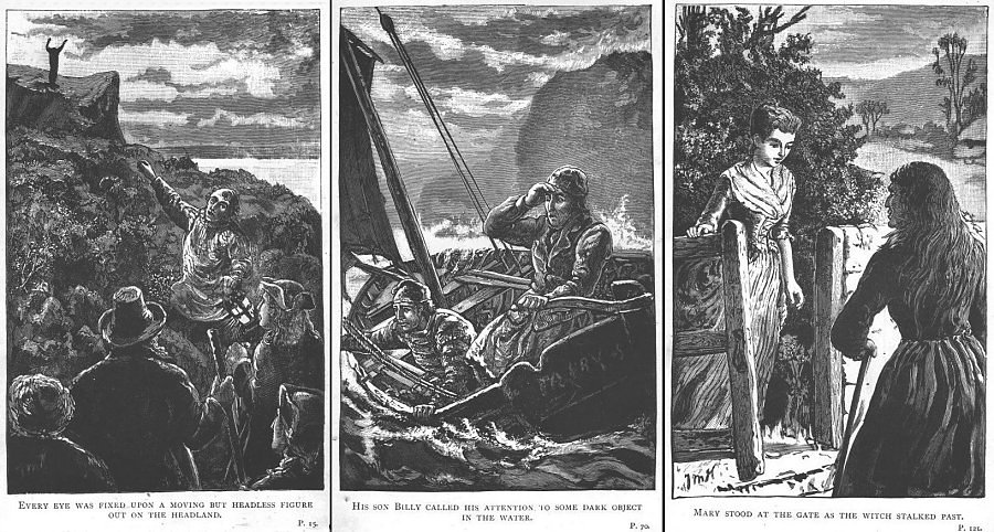 First three Thomas M. Hemy illustrations in Tregeagle's Head