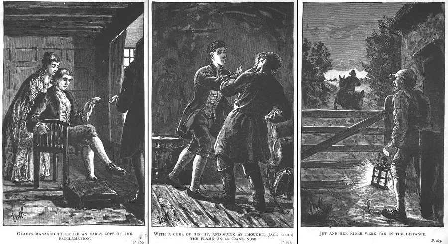 Last three Thomas M. Hemy illustrations in Tregeagle's Head