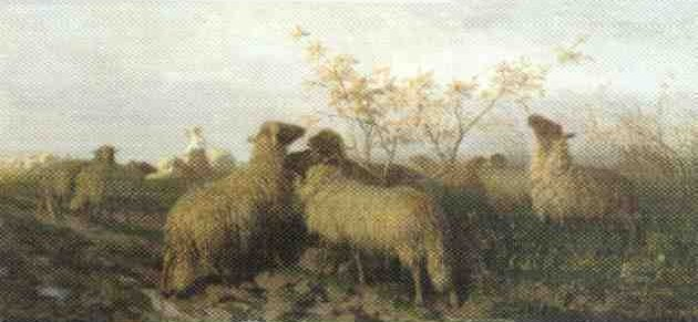 Schenck 1864 work entitled Les Moutons. See text.