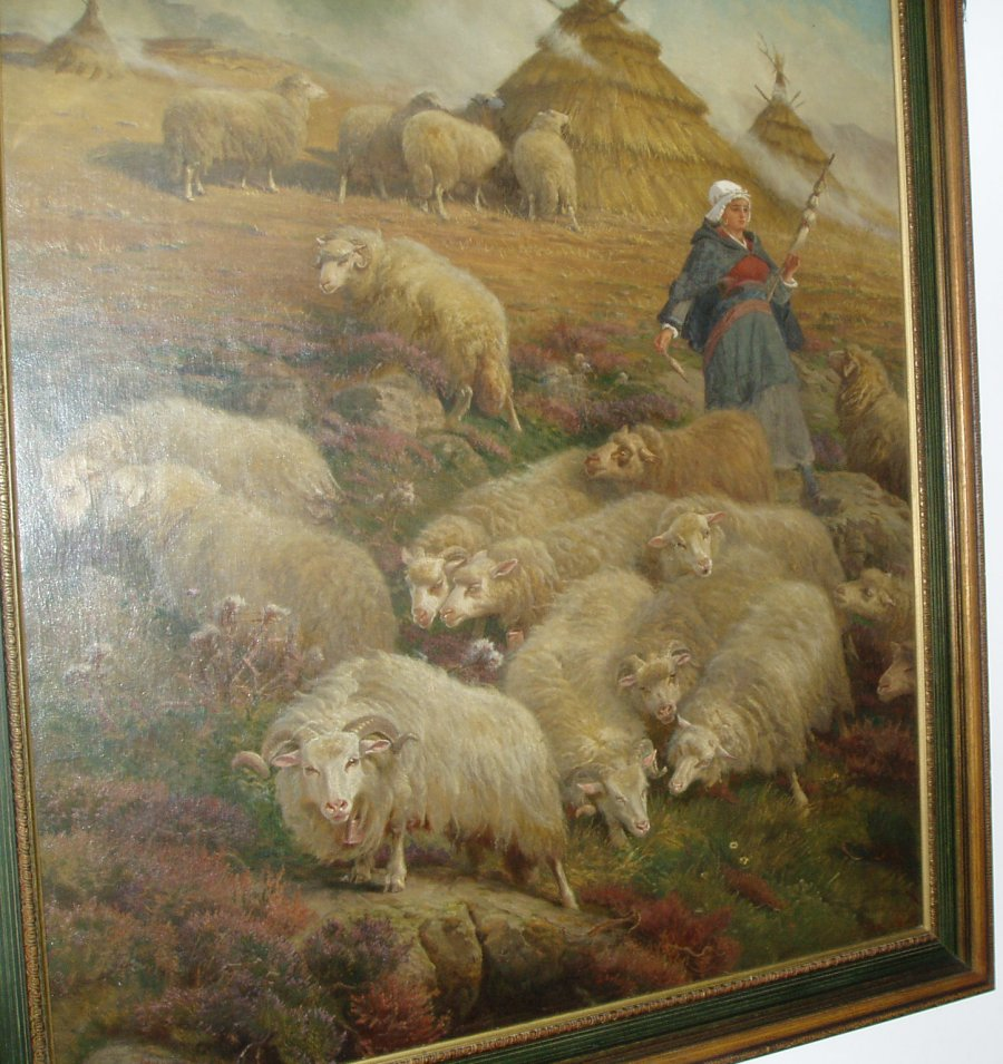 Schenck work. Shepherd and his flock - of title unknown. See text.