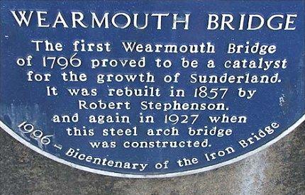 13) Bicentenary sign re 1796 bridge