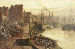 A most similar Thomas Hemy painting in the Tyne and Wear Museums