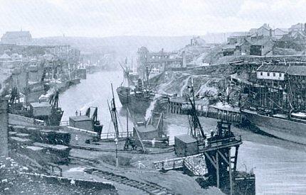 3) View westward, I believe, from the Sunderland Railway Bridge c. 1900 or perhaps 1897.