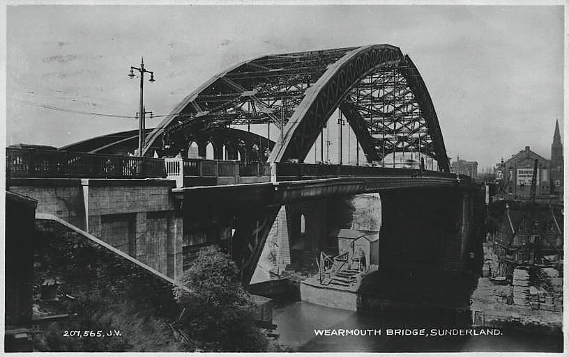 The road bridge in 1931, Sunderland