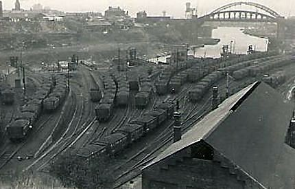 12) View of the Lambton drops looking eastwards to the bridges from the west. Date unknown.