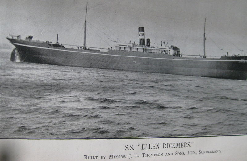 'Ellen Rickmers', built in 1896, ex Marine Engineer, Vol. 18 re Apl. 1896 to Mar. 1897. Ex eBay item 200649094401.