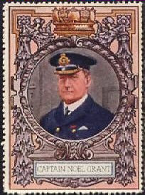 A 1915 label with the image of Captain Noel Grant