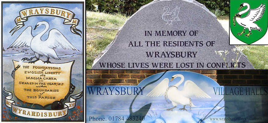 The swans of Wraysbury signage
